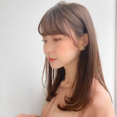 モテ髪 セミロング 横顔美人 ナチュラル ヘアスタイルや髪型の写真・画像