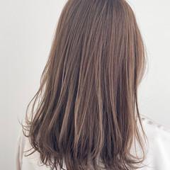 セミロング 透明感カラー アンニュイほつれヘア 簡単ヘアアレンジ ヘアスタイルや髪型の写真・画像