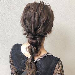 ヘアセット セミロング ふわふわヘアアレンジ ヘアアレンジ ヘアスタイルや髪型の写真・画像
