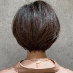 ナチュラル ハンサムショート ショートボブ ミニボブ ヘアスタイルや髪型の写真・画像