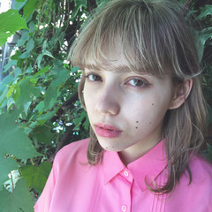 デート ガーリー ミディアム ハイライト ヘアスタイルや髪型の写真・画像