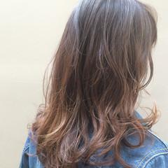 アッシュ 大人女子 グラデーションカラー 大人かわいい ヘアスタイルや髪型の写真・画像