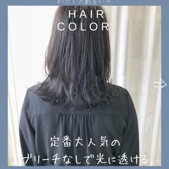 ウルフカット 外国人風カラー ナチュラル セミロング ヘアスタイルや髪型の写真・画像