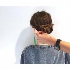 ヘアアレンジ フェミニン ボブ 簡単ヘアアレンジ ヘアスタイルや髪型の写真・画像