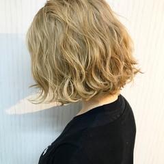 モード 透明感 ボブ ハイトーン ヘアスタイルや髪型の写真・画像
