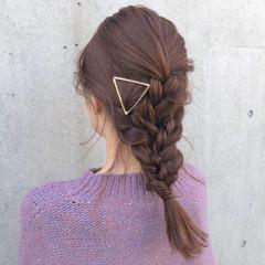 グレージュ 表参道 ガーリー 簡単ヘアアレンジ ヘアスタイルや髪型の写真・画像