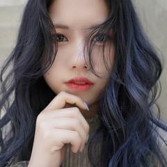 ロング ナチュラル ブリーチカラー 韓国ヘア ヘアスタイルや髪型の写真・画像