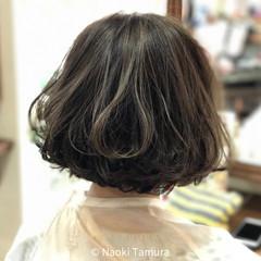 グレージュ 春 ゆるふわ ボブ ヘアスタイルや髪型の写真・画像