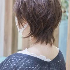 ウルフカット ショート ネオウルフ ナチュラル ヘアスタイルや髪型の写真・画像