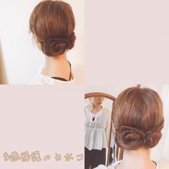 女子会 お団子 セミロング デート ヘアスタイルや髪型の写真・画像