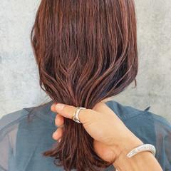 オレンジ 切りっぱなしボブ ブリーチ アンニュイほつれヘア ヘアスタイルや髪型の写真・画像
