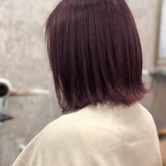 ブリーチカラー ミディアム フェミニン ラベンダーカラー ヘアスタイルや髪型の写真・画像