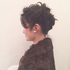 大人かわいい ヘアアレンジ ミディアム ヘアスタイルや髪型の写真・画像