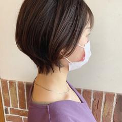 大人ショート ナチュラル ショートヘア ショート ヘアスタイルや髪型の写真・画像