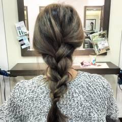 モテ髪 ナチュラル ヘアアレンジ 編み込み ヘアスタイルや髪型の写真・画像
