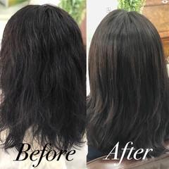髪質改善トリートメント 縮毛矯正 ナチュラル 美髪 ヘアスタイルや髪型の写真・画像