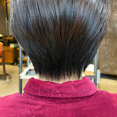 大人ショート ナチュラル ハンサムショート 丸みショート ヘアスタイルや髪型の写真・画像
