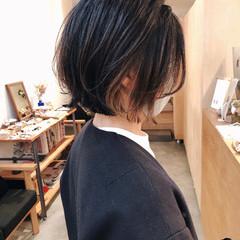 ハイライト グラデーションカラー ボブ インナーカラー ヘアスタイルや髪型の写真・画像