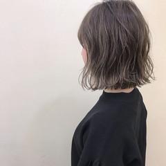 ボブ ナチュラル ロブ 色気 ヘアスタイルや髪型の写真・画像