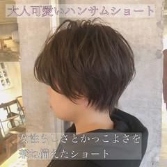 切りっぱなしボブ ショートヘア ショート ベリーショート ヘアスタイルや髪型の写真・画像