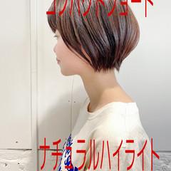 ナチュラル ショートボブ ショート 大人女子 ヘアスタイルや髪型の写真・画像