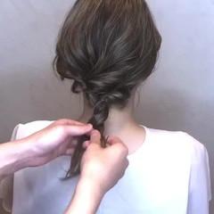 ヘアアレンジ ハイライト 簡単ヘアアレンジ フェミニン ヘアスタイルや髪型の写真・画像