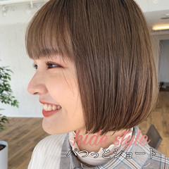 マッシュショート ショートヘア ナチュラル ショートボブ ヘアスタイルや髪型の写真・画像