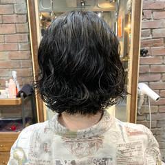 ボブ ボブ  コテ巻き風パーマ ヘアスタイルや髪型の写真・画像