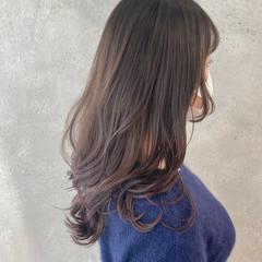 ラベンダーカラー グラデーションカラー インナーカラー ナチュラル ヘアスタイルや髪型の写真・画像