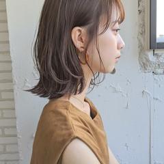 アンニュイほつれヘア ミディアム ガーリー 大人カジュアル ヘアスタイルや髪型の写真・画像