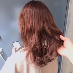 ナチュラル ミディアム オレンジ オルチャン ヘアスタイルや髪型の写真・画像