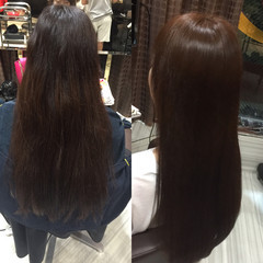 ブラウン ナチュラル ロング ショコラブラウン ヘアスタイルや髪型の写真・画像