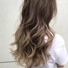 透明感 秋 ハイライト ストリート ヘアスタイルや髪型の写真・画像