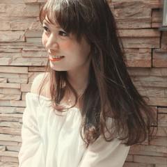 前髪あり ロング 涼しげ 大人かわいい ヘアスタイルや髪型の写真・画像