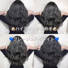 夏 外国人風カラー ハイライト ヘアアレンジ ヘアスタイルや髪型の写真・画像