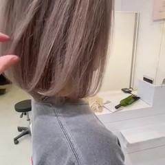 ミニボブ ベージュ ボブ ショートボブ ヘアスタイルや髪型の写真・画像