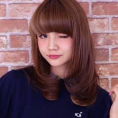 ストリート ガーリー ミディアム グラデーションカラー ヘアスタイルや髪型の写真・画像