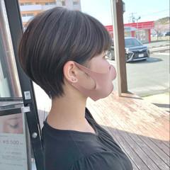 丸みショート ショート ナチュラル 大人ショート ヘアスタイルや髪型の写真・画像