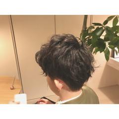 パーマ モテ髪 ボーイッシュ ナチュラル ヘアスタイルや髪型の写真・画像