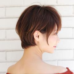 デート ショート オフィス 抜け感 ヘアスタイルや髪型の写真・画像