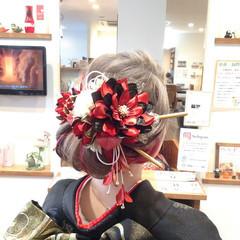ロング デート 結婚式 成人式 ヘアスタイルや髪型の写真・画像