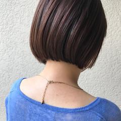 インナーカラー ショートボブ ボブ ナチュラル ヘアスタイルや髪型の写真・画像