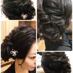 大人女子 シニヨン ロング 結婚式 ヘアスタイルや髪型の写真・画像