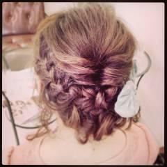 大人かわいい 編み込み 愛され アップスタイル ヘアスタイルや髪型の写真・画像
