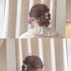 ゆるふわ セルフヘアアレンジ フェミニン ヘアアレンジ ヘアスタイルや髪型の写真・画像