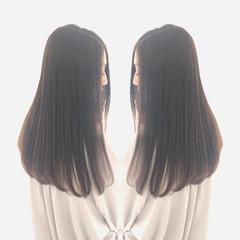 ロング オーガニックカラー 似合わせカット 髪質改善 ヘアスタイルや髪型の写真・画像