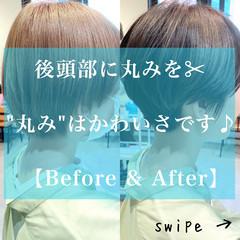 大人かわいい ショートヘア 暗髪 ショートボブ ヘアスタイルや髪型の写真・画像