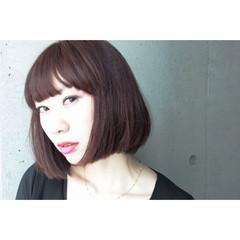 暗髪 グラデーションカラー 大人かわいい モード ヘアスタイルや髪型の写真・画像