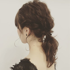 ゆるふわ 波ウェーブ ミディアム ショート ヘアスタイルや髪型の写真・画像