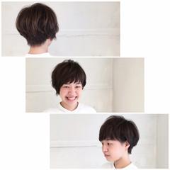 ナチュラル ショート マッシュ アッシュ ヘアスタイルや髪型の写真・画像